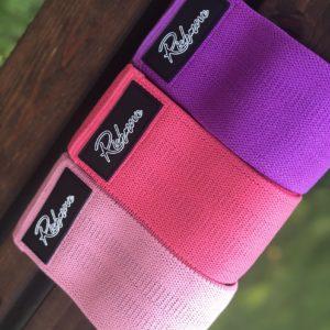 Sada odporových gum – růžová, tmavě růžová, fialova