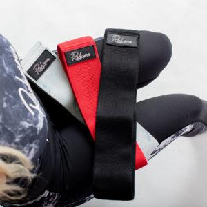 Sada odporových gum – Červená, marble bílá, černá